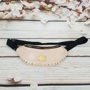 Blush pink vegan leather fanny pack